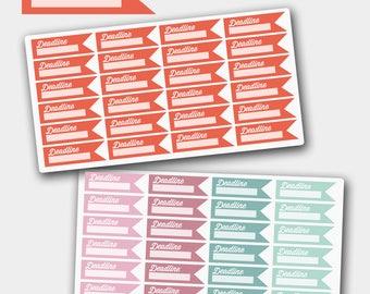 Deadline Sticker for Life Planners