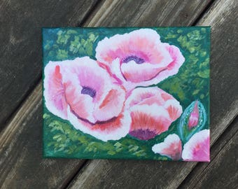 Poppies, 8x10 acrylic painting