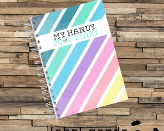 Food Diary Journal, Diet Planner, Allergy Tracking, Weight Diet, Slimming Diet, Food Tracker Planner, Exercise, Sleep, Water Track