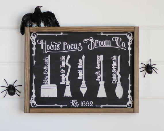 hocus pocus wood signs witch decor halloween decorations halloween signs halloween decor halloween home decor witch sign 12 x 16 - Witch Decorations