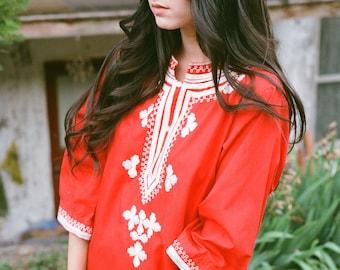 Red Genie Caftan Dress