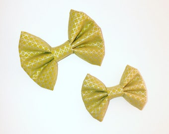 Mustard Glam Kenzie Bow on clip or headband