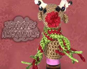 Reindeer Amigurumi Crochet Bottle Topper (Wine Topper)
