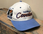 Cleveland Cavaliers hat // Vintage script hat // rare Sports specialties snapback // two tone // spell out side logo // cavs retro