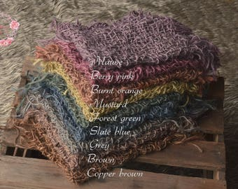 Chunky burlap net hand dyed!Hessian,rustic jute net layer,open weave,natural basket stuffer,neutral wrap,blanket,newborn,sitter photo prop