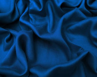 "Royal Blue Rayon Fabric, Home Decor, Antique Fabric, Sewing Accessories, 42"" Inch Apparel Fabric By The Yard PZBR5D"