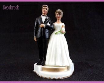 Top of wedding cake vintage couple wedding anniversary couple