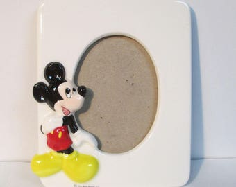 Walt Disney Co. Mickey Mouse Ceramic 3D Embossed Photo Picture Frame