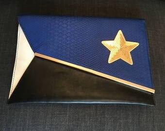 Sassy Clutch Bag with Star Embellishment