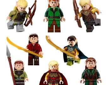 Seigneur de l'anneaux le Hobbit 8 X Mini Figures s'adapte à tous les Lego ensembles incluant Marvel, Star Wars et Ninjago