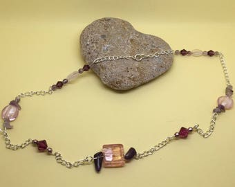 """""""Multiperles"""" silver chain necklace"""
