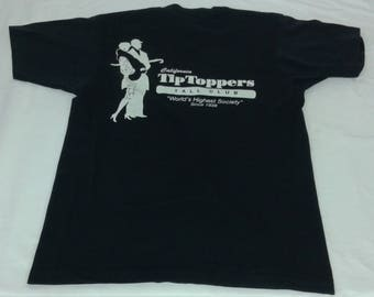 Vintage Screen Stars 50/50 California Tip Toppers Tall Club International Tshirt Size Large