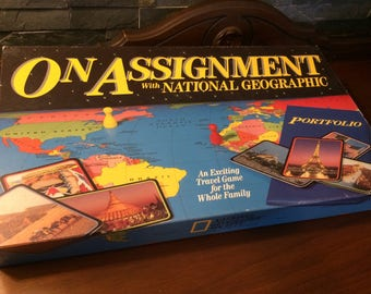 1990 On Assignment with National Geographic Novelty Board game Photography Photographers