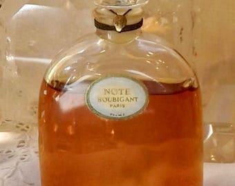 Houbigant, Note, 60 ml. or 2 oz. Flacon, Pure Parfum Extrait, 1918, Paris, France ..