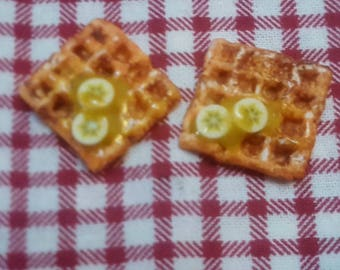 Waffles with bananas miniature pack of 2