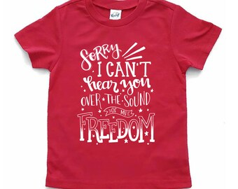 Kids freedom t shirt - 4th of July shirt - patriotic shirt - red white and blue - stars and stripes - boy - girl - baby - toddler - outfit