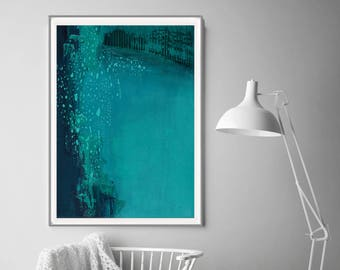 Print black and blue, contemporary art,  home decor, wall art abstract, aqua abstract, Turquoise Aqua Home Decor, digital print ,blue art