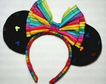 Rainbow ears/gay pride ears/handmade/disney ears