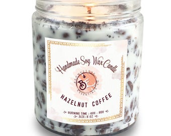 Hazelnut Coffee Candle // Coffee Candle //Gift for her // Gift for him // Holiday Gift // Personalized Candle // Soy Candle