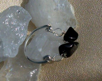 Black Obsidian 925 sterling silver ring