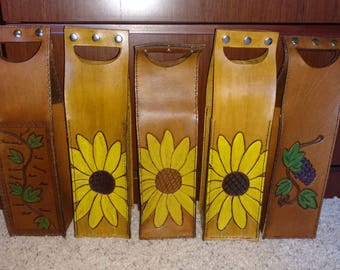 Leather Wine Bottle Box/Gift Bag