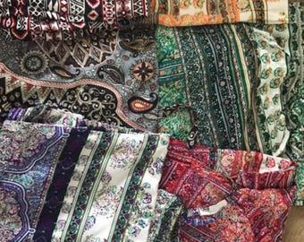 new harem pants bloggers batik pattern Chinohose hippie Aladinhose Paisley harem trousers
