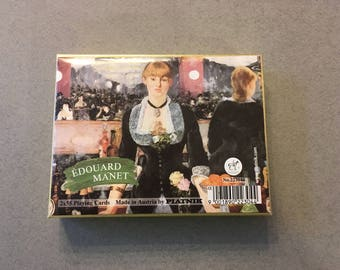 Vintage Piatnik Edouard Manet Playing Cards- Made in Austria- Double Deck-55 Cards Each