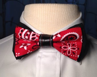 Red Hanky Code Bow Tie