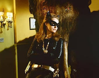Retro 1960s Julie Newmar as Catwoman  From Batman TV Show Color Photograph— More Celebrity Photos available Too