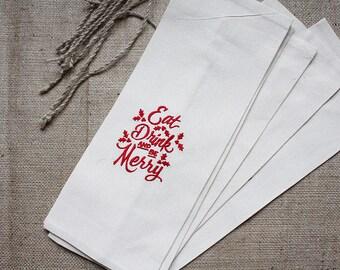 Wine bag Wine gift bag Wine bottle bag Bottle bag Wine bags Holiday gift bag  Gift for her