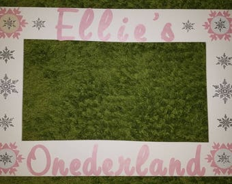 Winter onederland photo booth frame prop - winter photo frame prop- winter wonderland photobooth and  props