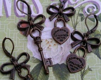 Breakfast At Tiffany's Heart Lock & Key