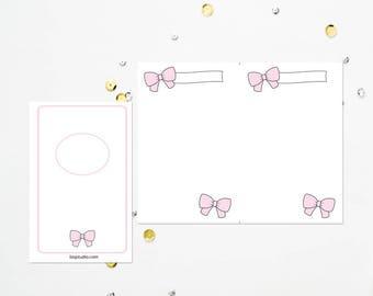 POCKET TN Pink Bow Blank