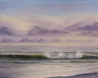 Large Seascape Painting, Coastal Landscape Painting, Ocean Waves, Coastal Art, Original Oil Painting on Canvas, The Offering of Time