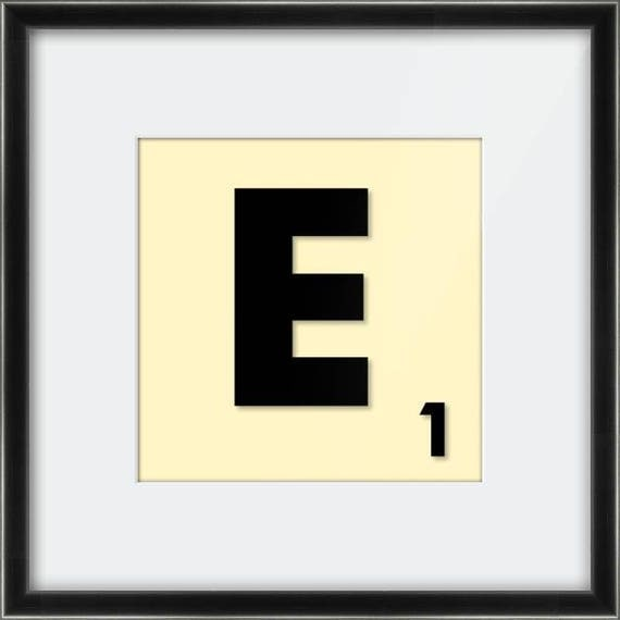Scrabble Letter Print. Printed, Mounted & Framed or Printed on Canvas