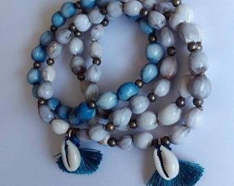Job's tears beads. bracelet sets/ tassel jewelry.