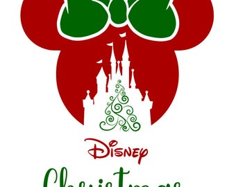Disney Christmas - Mickey and Minnie Head - 2017 and 2018 - svg, pdf, png file