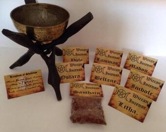 Handmade By Kingdom Of Shadows Wiccan Great Sabbat Incense Superior Quality Beltane, Samhain, Mabon, Litha, Imbolc, Lammas, Yule, Ostara