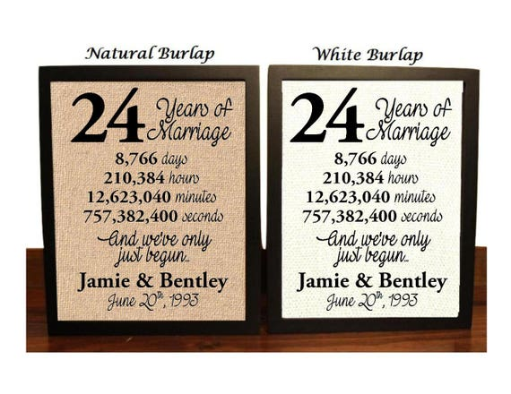 What Is The Gift For 16 Year Wedding Anniversary: 24th Wedding Anniversary 24 Year Wedding Anniversary 24th