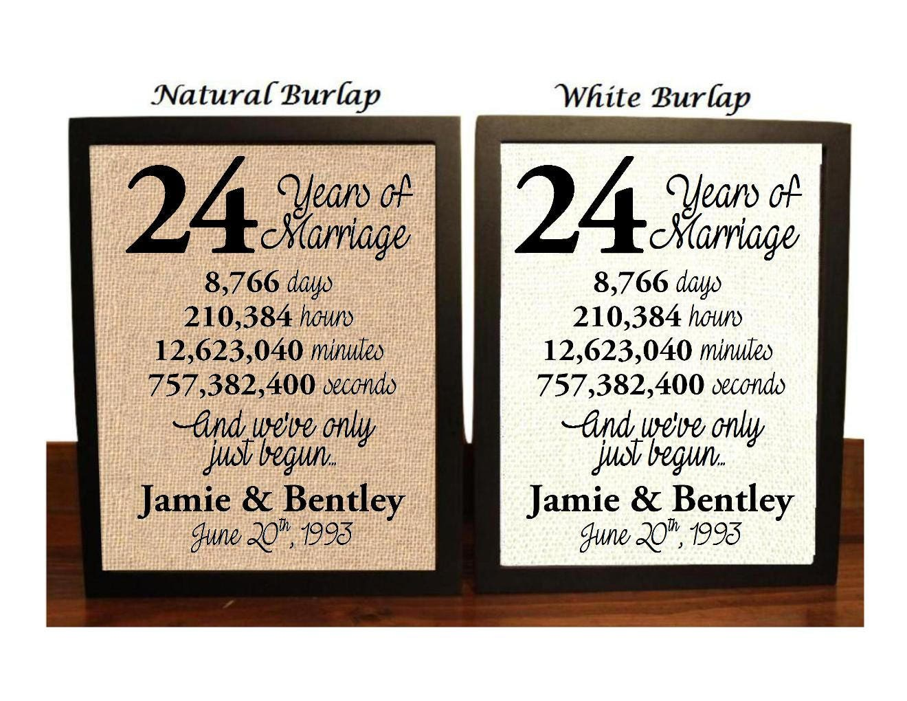 24th Wedding Anniversary Gift Ideas