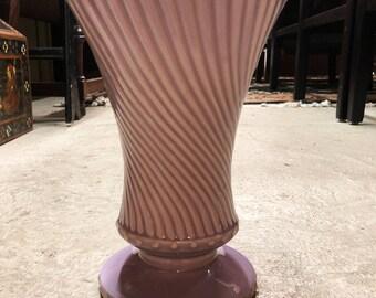 Ceramic Lavender McCoy USA Vase