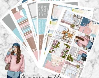 Miami Fall | Planner Stickers MATTE | Erin Condren Vertical Weekly Planner Kit