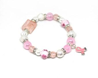 Breast Cancer Awareness Bracelet - Breast Cancer Gift - Breast Cancer Survivor - Breast Cancer Warrior - Breast Cancer - Breast Cancer Charm