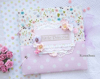 Baby girl photo album, baby girl memory book, personalized baby book girl,  newborn keepsake book, For Newborn Scrapbook Baby Album