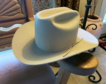 VINTAGE RESISTOL COWBOY Hat, Tan 3X Beaver Felt, Size 7 5/8, Great Condition