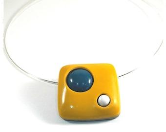 Mustard yellow Choker necklace