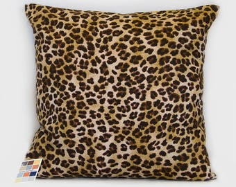 Leopard Pillow Cover, Animal Print Print Pillow Cover,  Decorative Leopard Print Pillow Cover with Invisible Zipper