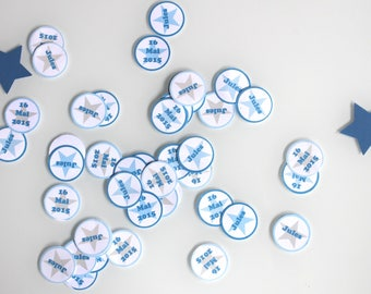 100 personalized confetti - name, age or date event-wedding anniversary christening