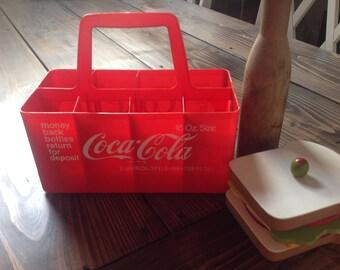 Plastic Red Coke 16 oz bottle carrier