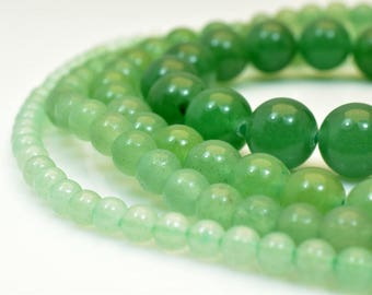 Green Jade Gemstone Round Beads 4mm/6mm/8mm/10mm Natural Healing stone chakra stones for Jewelry Making